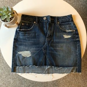Garage Jean Mini Skirt
